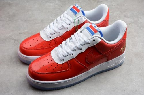 Nike Air Force 1 07 White Red Shoes Best Price 7