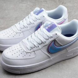 Nike Air Force 1 07 White Blue Shoes Best Price 7