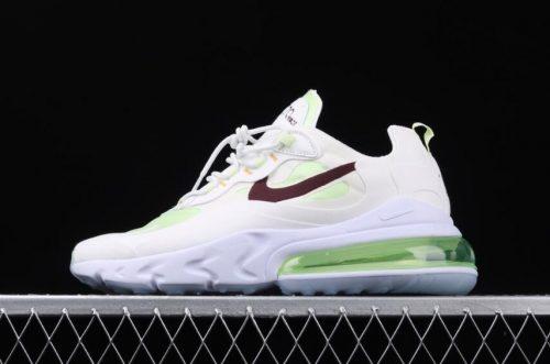 Nike Air Max 270 React Beige Fluorescent Green AQ9087-108 1